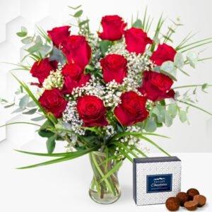 12 Red Roses - Valentine's Flowers - Valentine's Day Flowers - Red Roses - Valentine's Roses - Red Roses Bouquet - Valentine's Day Roses